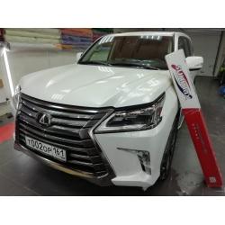 Оклейка полиуретановой пленкой sunmaxfilms Lexus белый