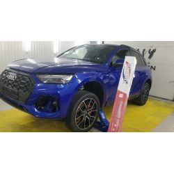 Оклейка полиуретановой пленкой Sunmaxfilms Audi синий