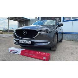Оклейка полиуретановой пленкой Sunmaxfilms серого авто Mazda