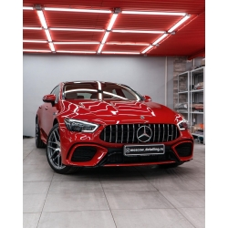 Оклейка полиуретановой пленкой Sunmaxfilms Mercedes-Benz красного