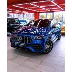 Оклейка полиуретановой пленкой Sunmaxfilms Mercedes-Benz синего
